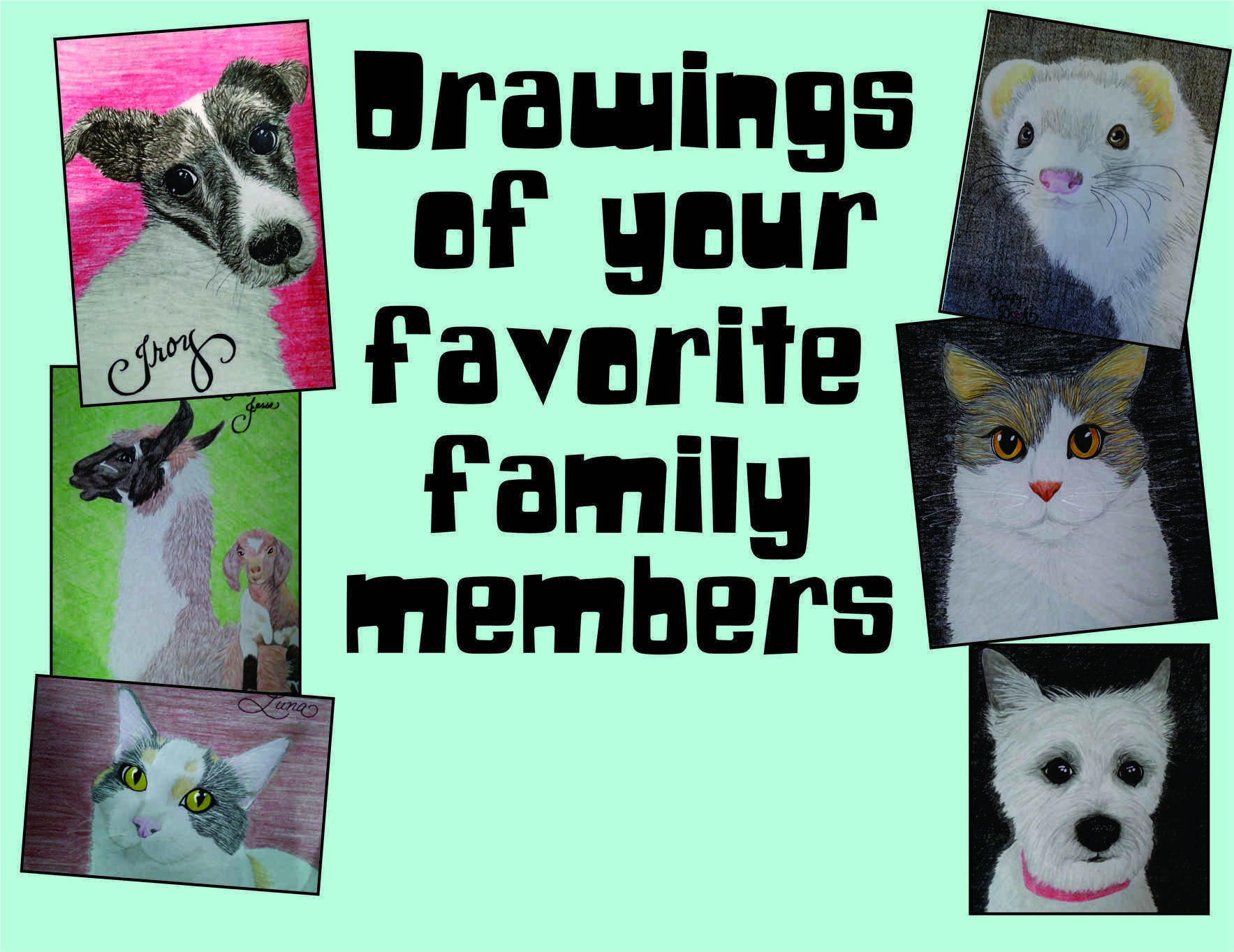 Make a Life-Saving Donation & Get a Cute Drawing of Your Pet image