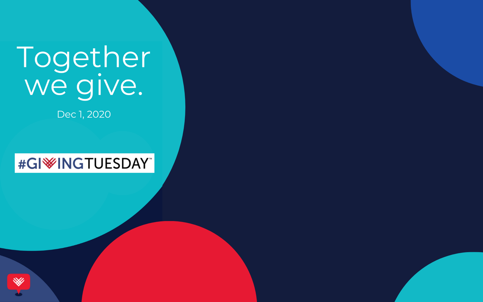 Help us reach our goal this Giving Tuesday, a global day of generosity!  image