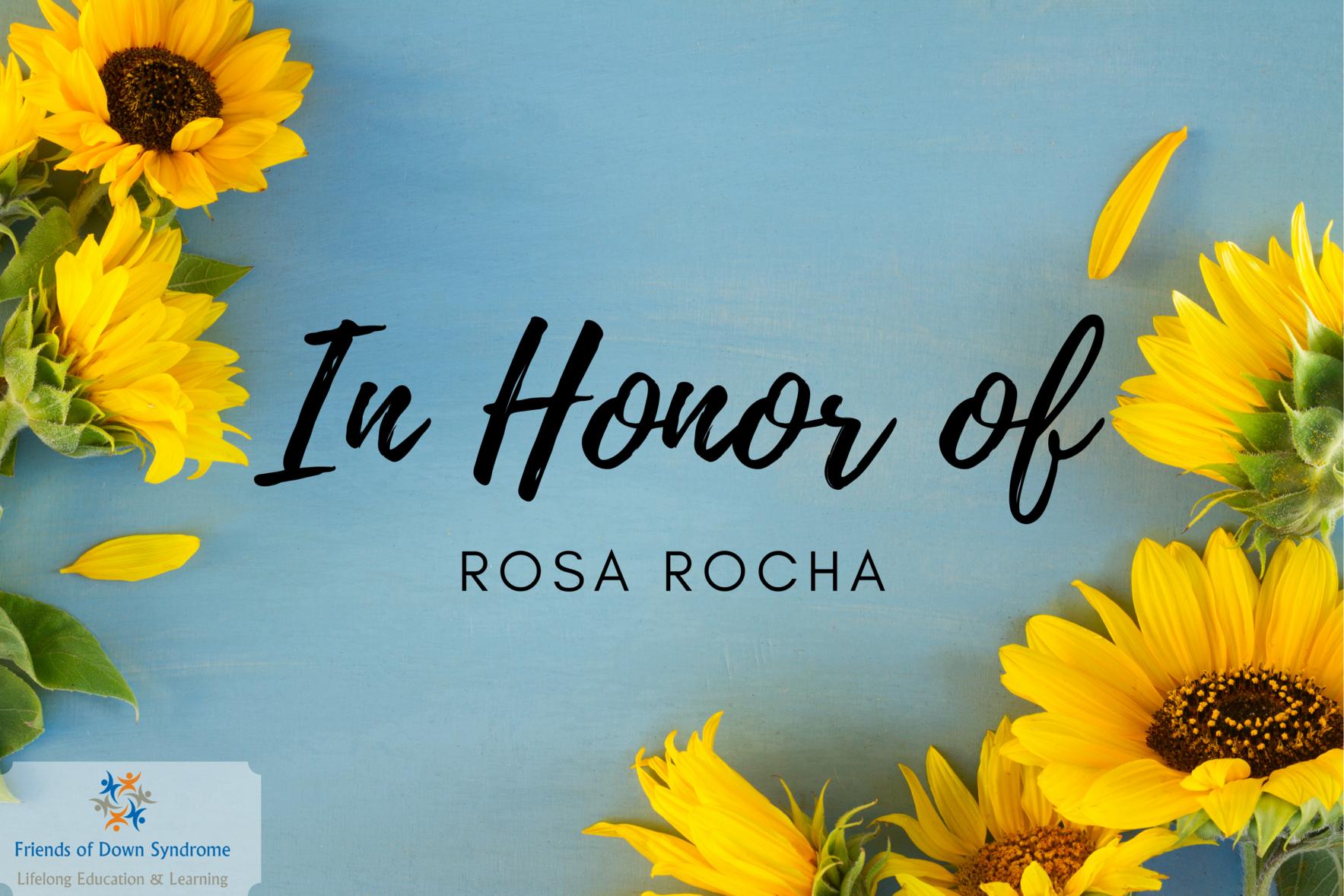 In Honor of Rosa Rocha image