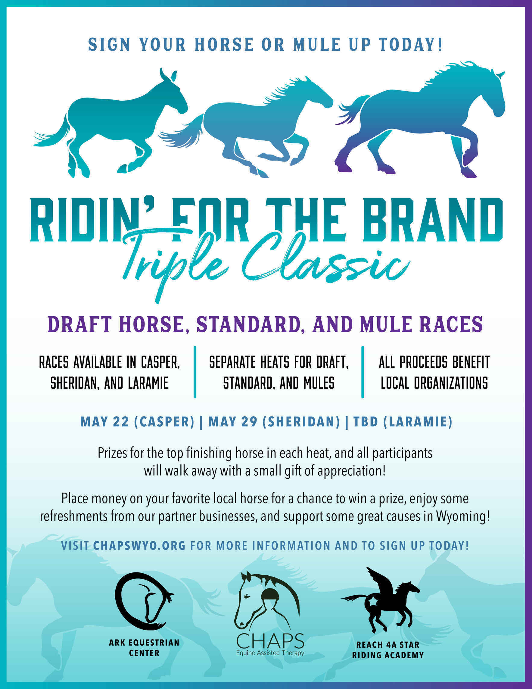 Choose your favorite horse to win!  image
