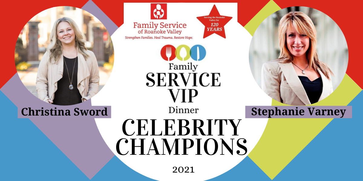 Join Christina Sword and Stephanie Varney in helping Family Service restore health and hope for individuals in the Roanoke Valley! image
