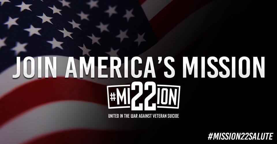 Donate to Mission 22- help provide treatment & end Veteran Suicide image