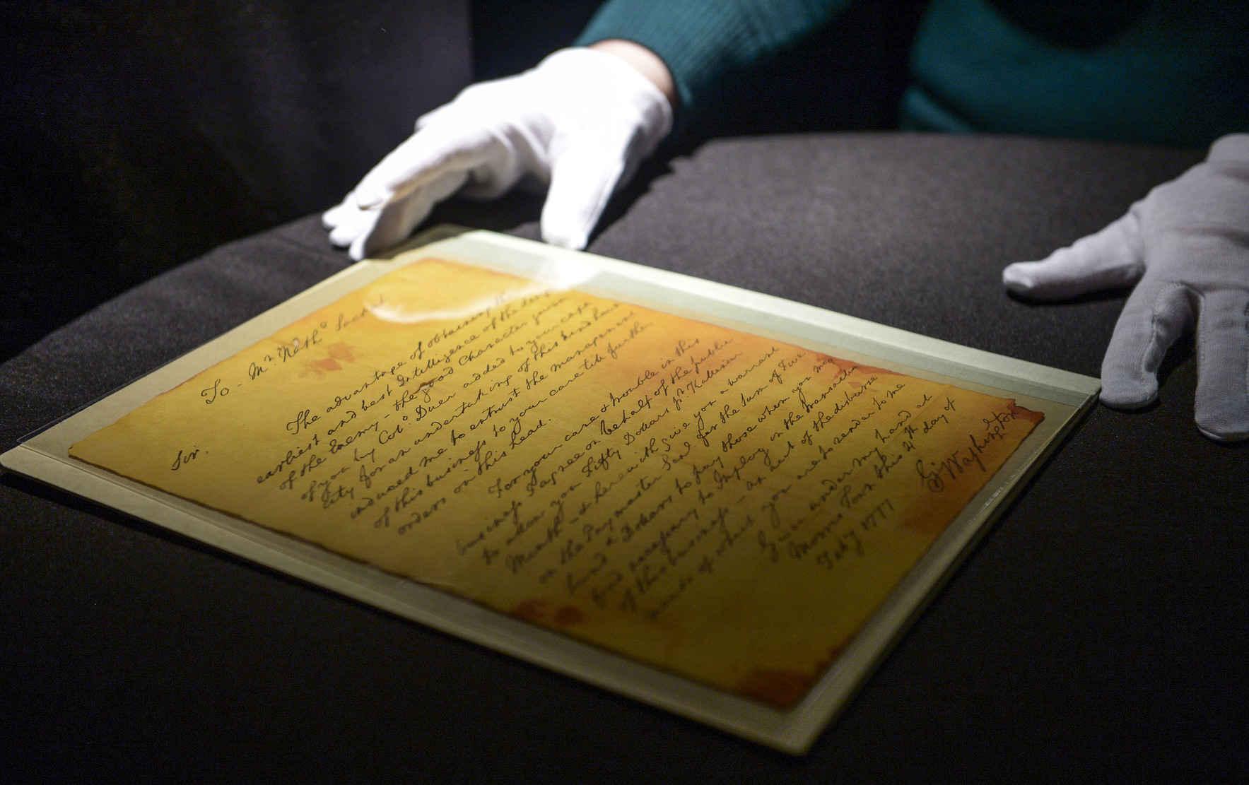 Help Us Preserve the George Washington Spy Letter image