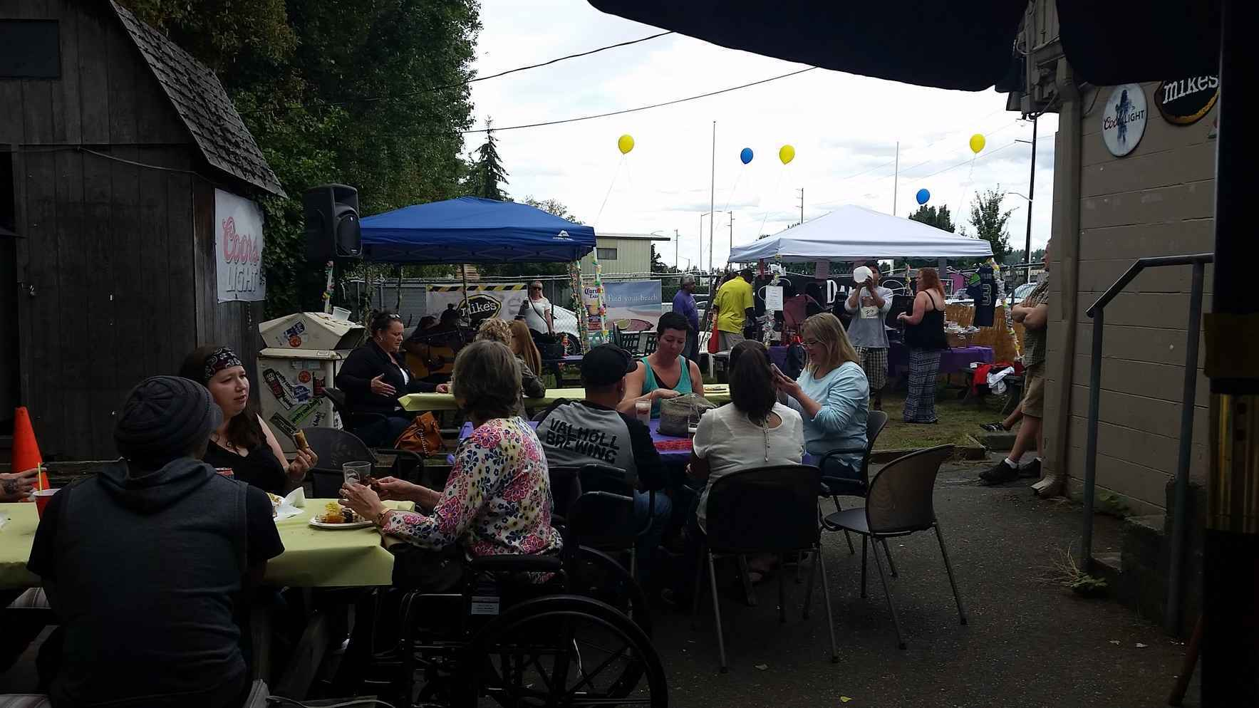 Support survivors of Domestic Violence. Join Dawn in rising for peace in our community. Money raised at this year's BBQ will go towards new playground equipment and/or needs at the children's annex at the shelter. image