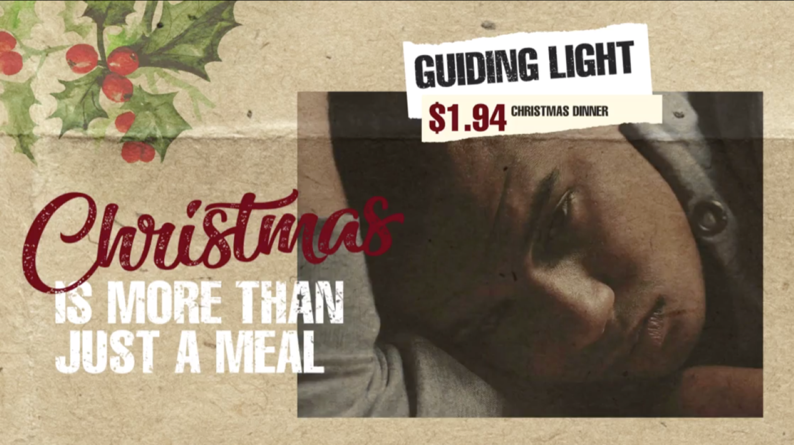 Help provides a complete Christmas meal for those who are hungry.  image