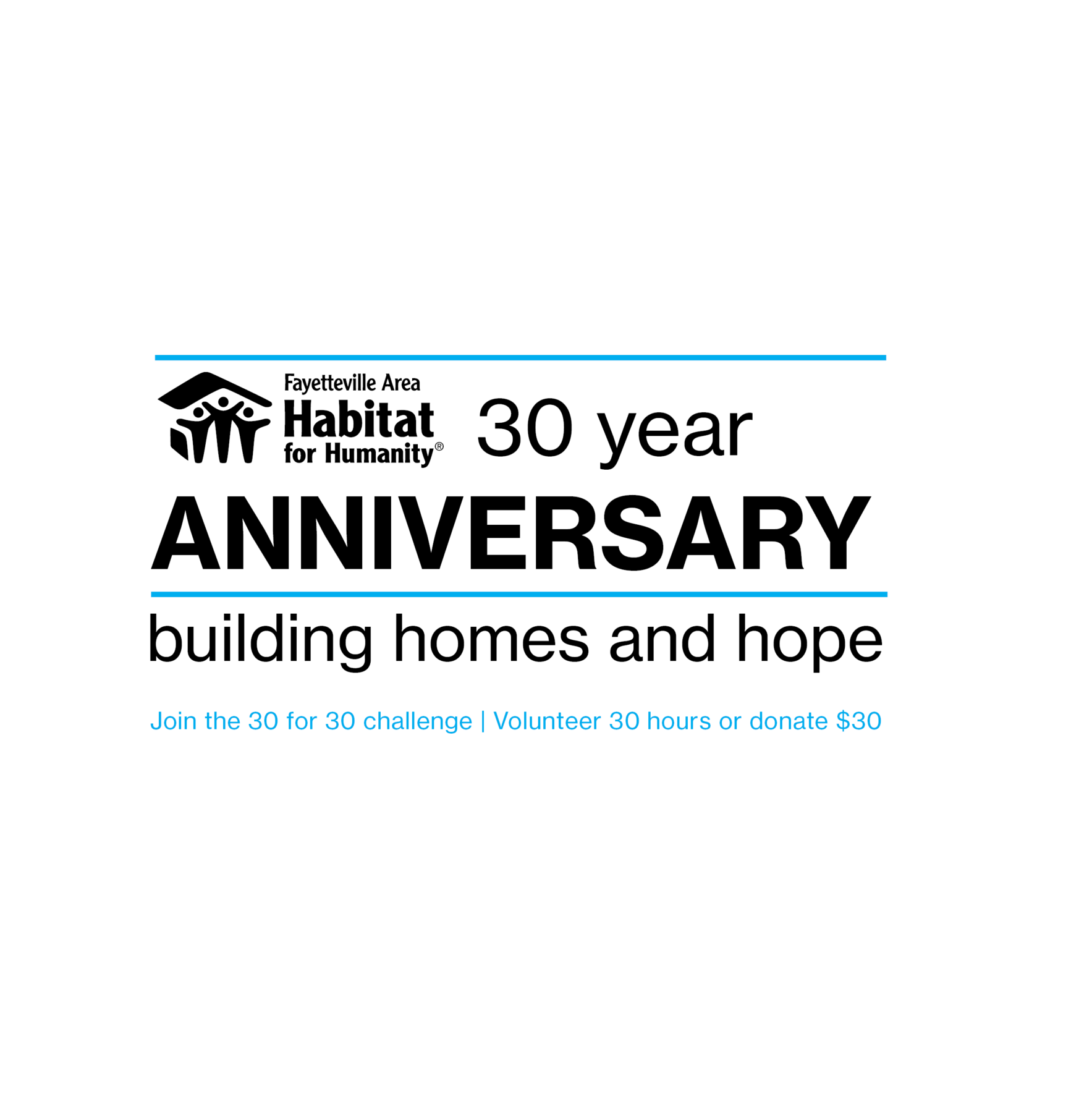 Celebrate 30 years of Habitat for Humanity in our community image