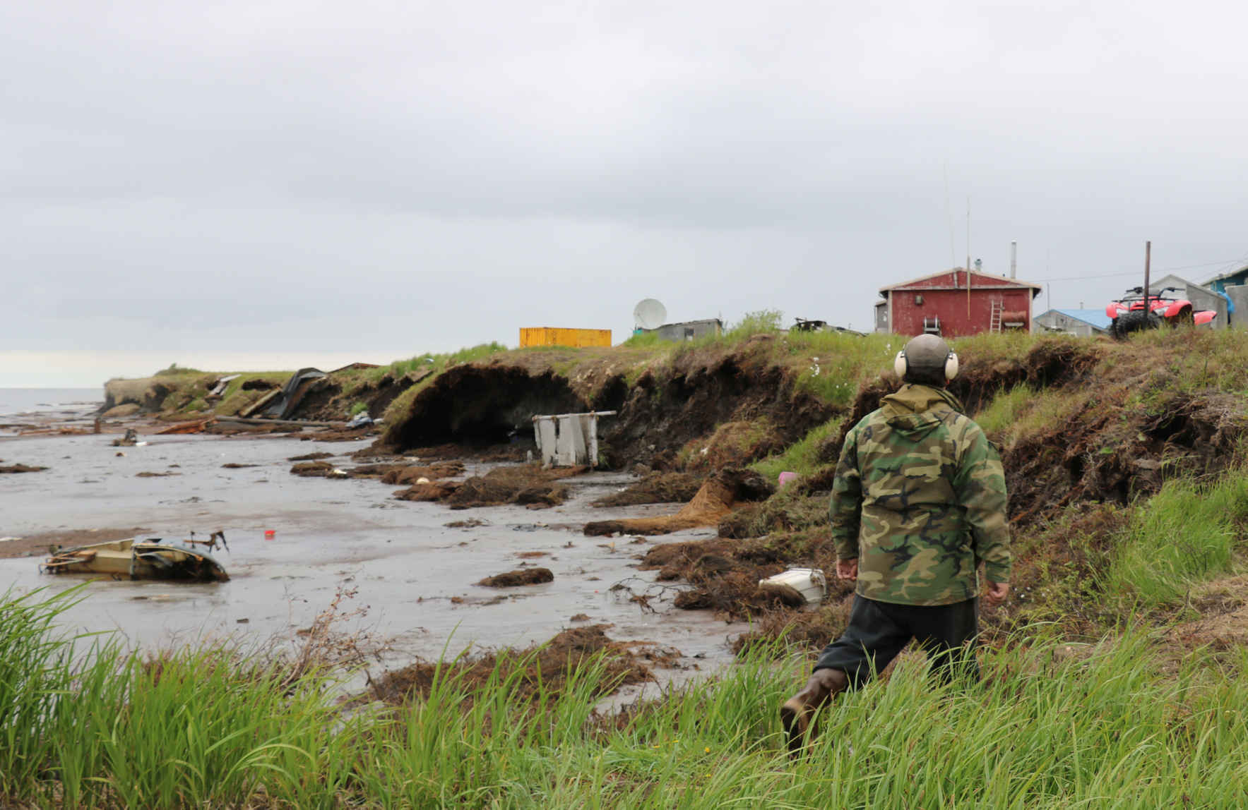 As the banks of the Ninglick River in Southwest Alaska further encroach on the village of Newtok, the need to relocate becomes more urgent. Regional support is crucial for fundraising and momentum on Newtok's relocation. image