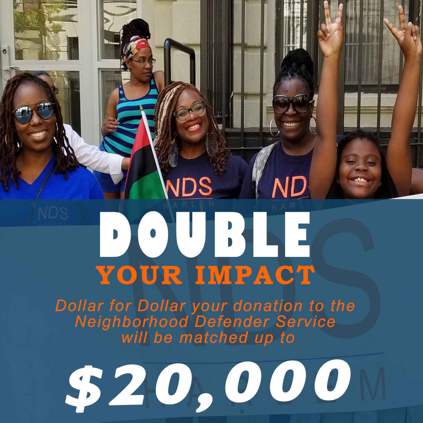 Double the Impact of your gift to Neighborhood Defender Service of Harlem image