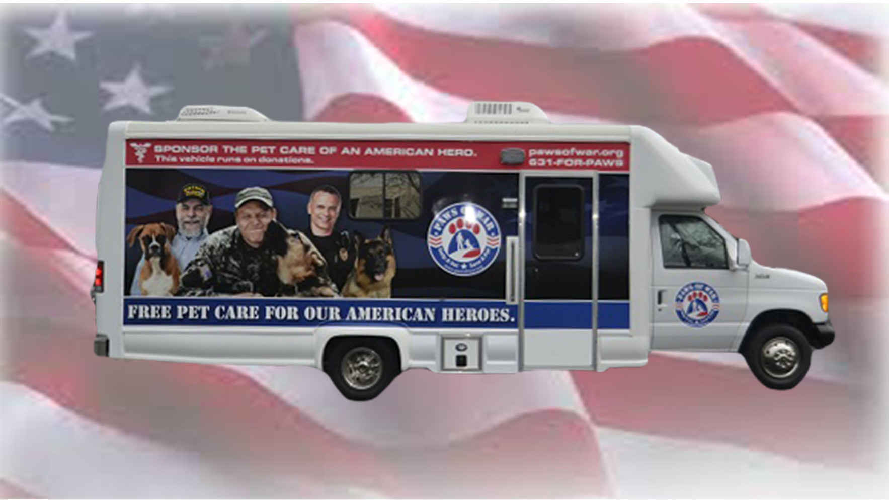 Sponsor the veterinary care of a pet for a wounded warrior! image
