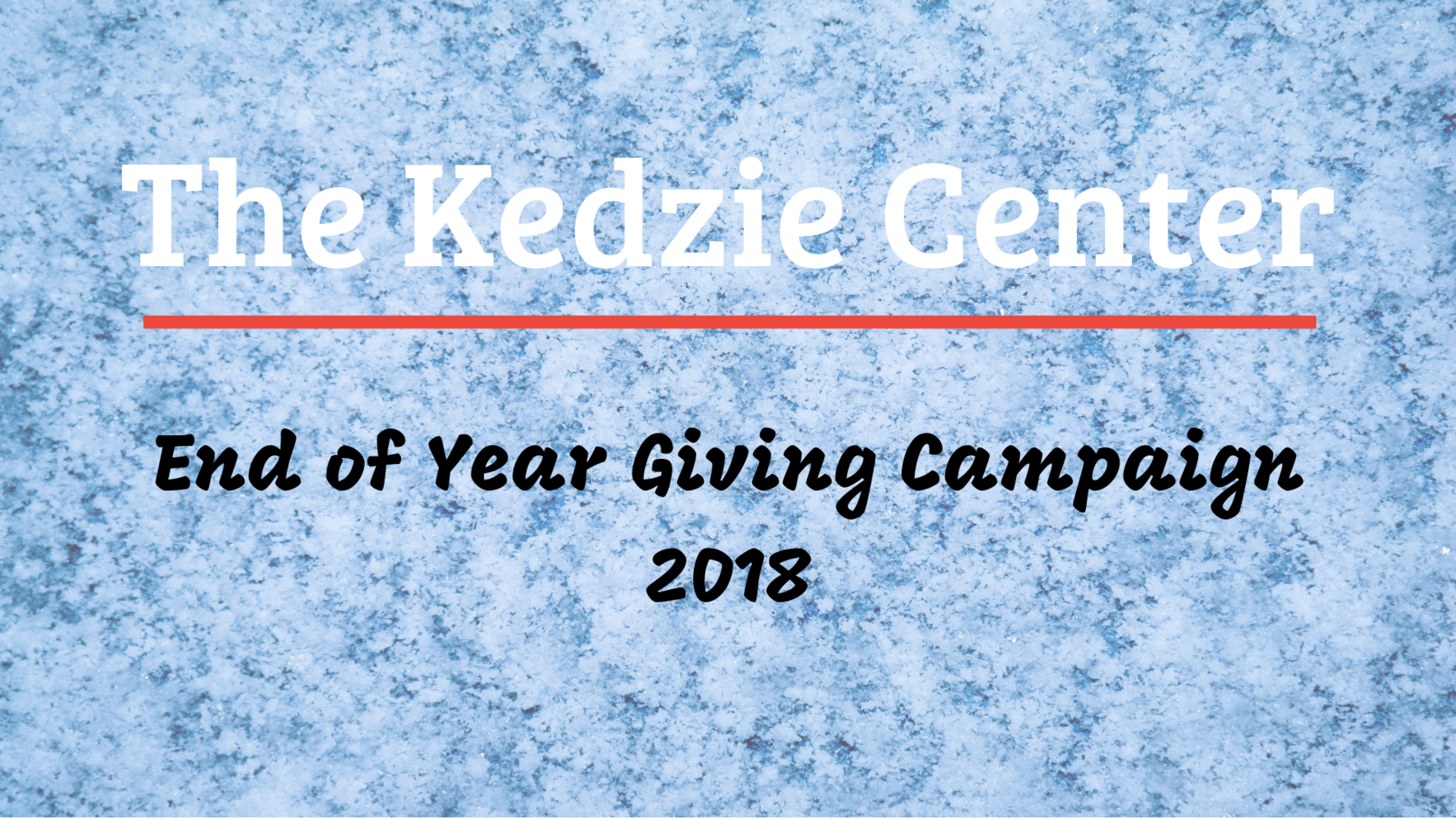 Help Kedzie end the year strong! image