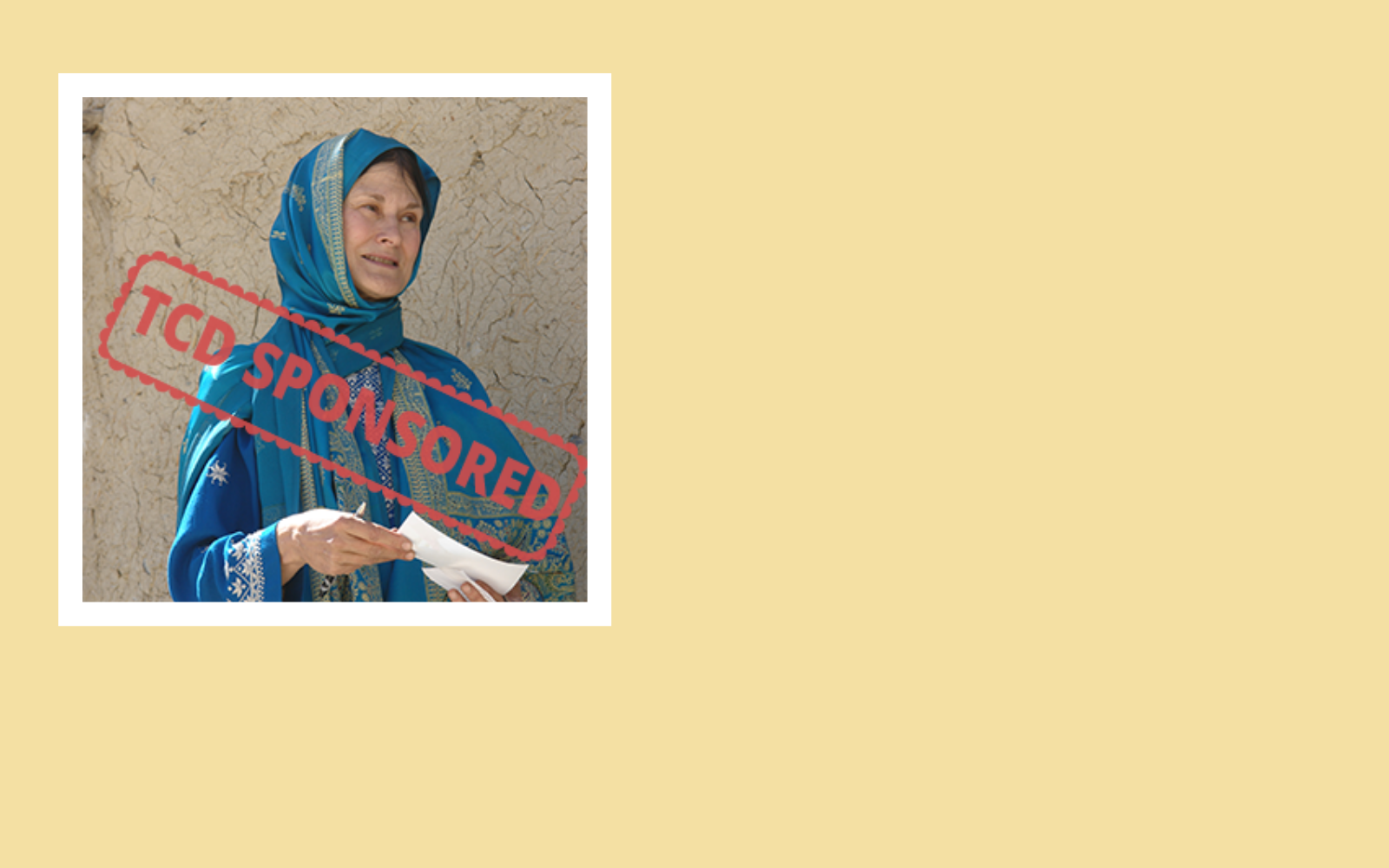 I'll bring help and hope to the Bamyan Women's Center image