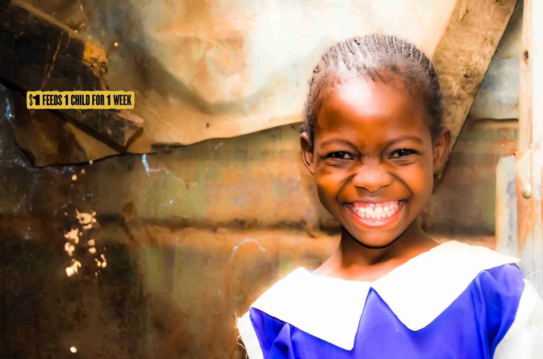 Donate as a monthly partner to feed children in the slums of Nairobi! image
