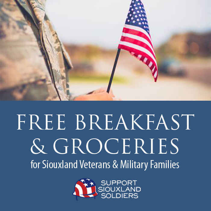 Sponsor a Meal & Groceries for a Siouxland Veteran in Need! image