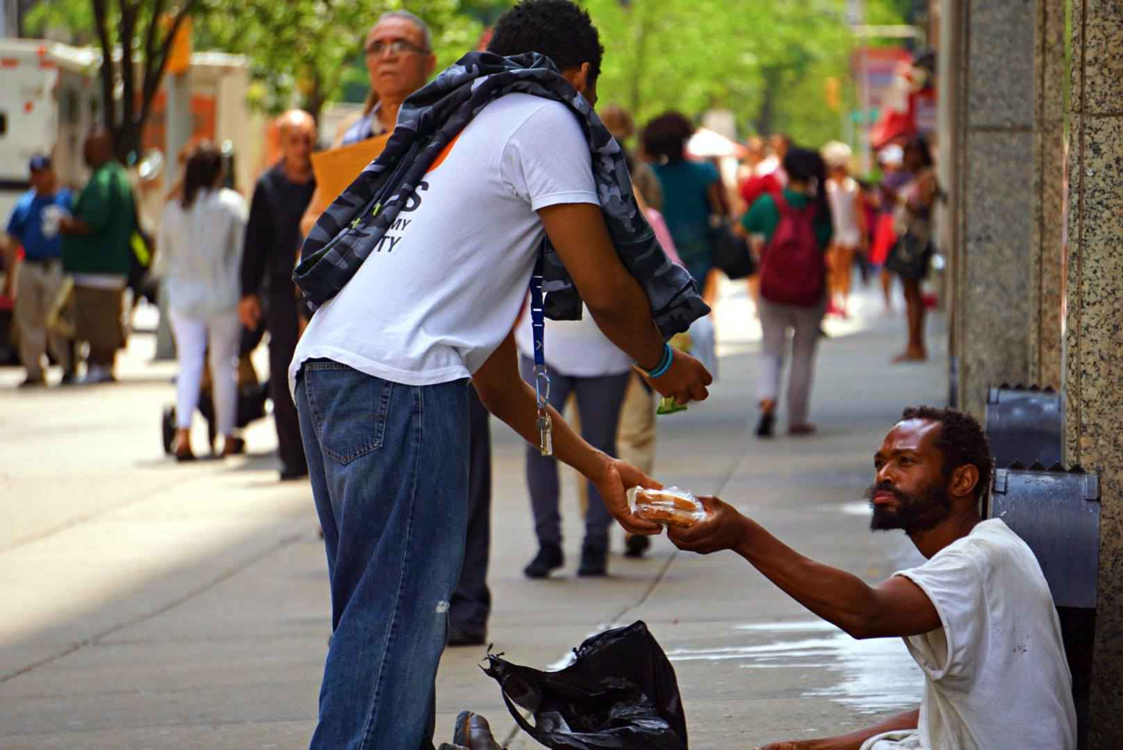 Donate now to feed the homeless of New York. image