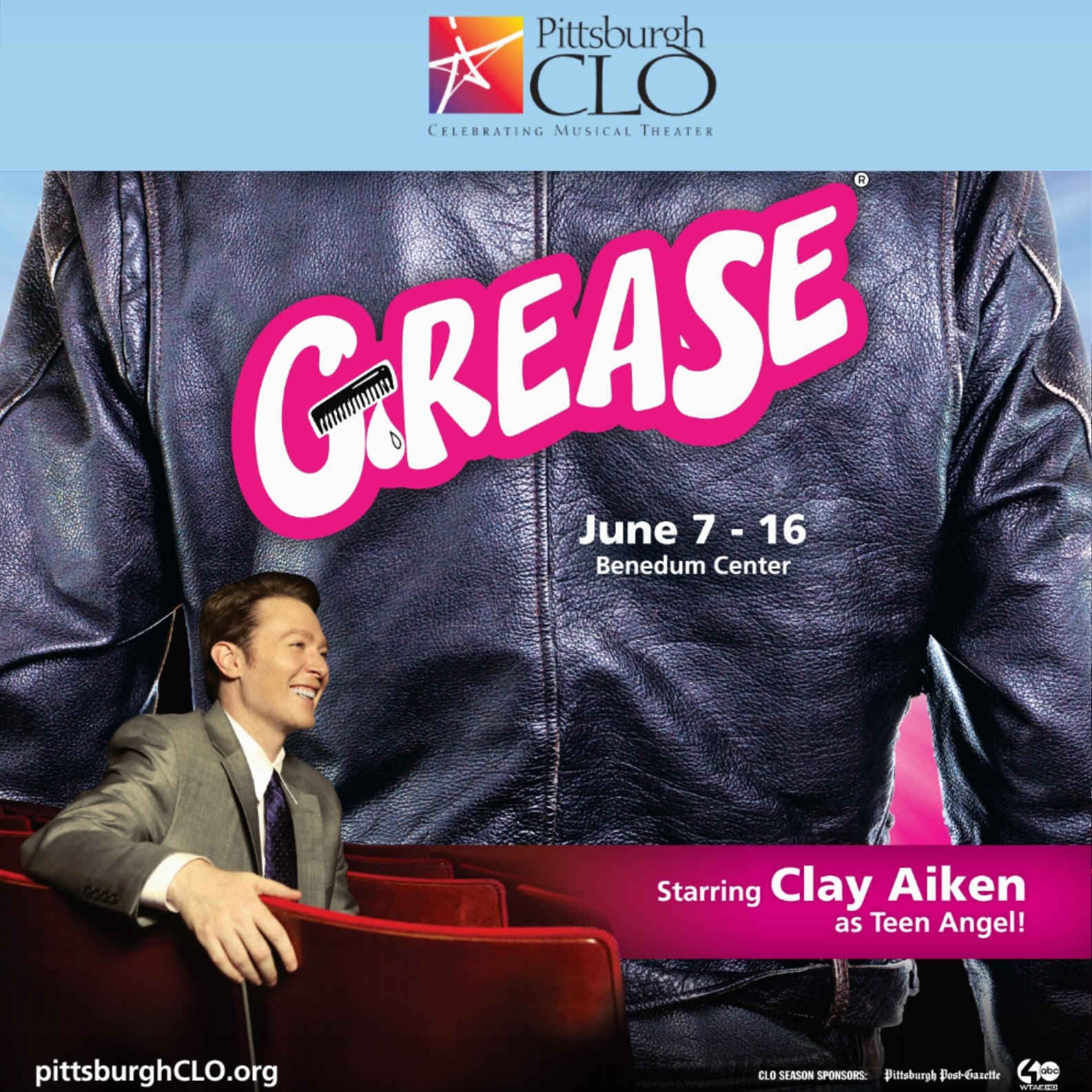 Donate for a chance to win a Meet & Greet for 2 with Clay Aiken during Grease at the Pittsburgh CLO (tickets included!) image