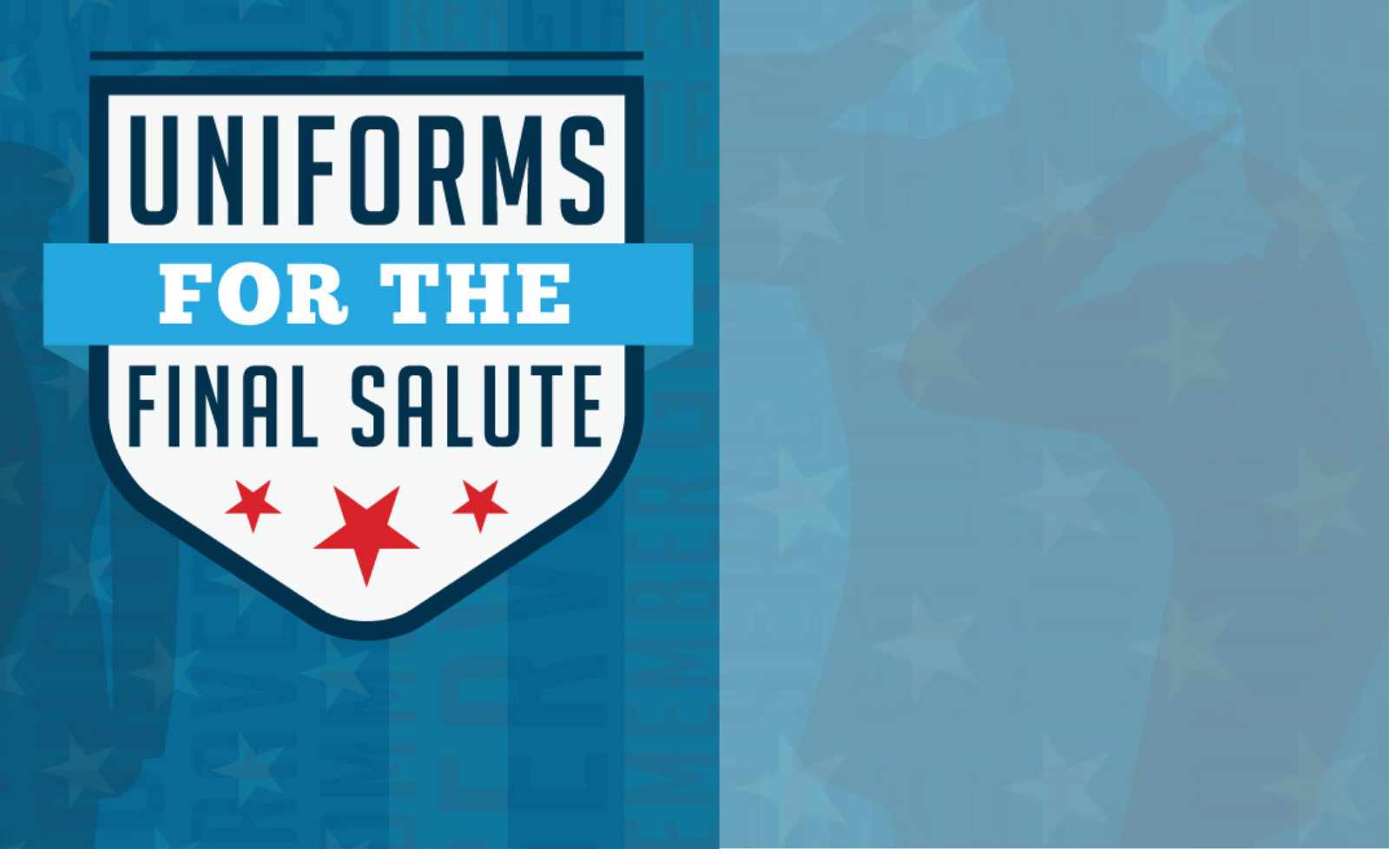 Give a financial gift to support the Uniforms for the Final Salute program image
