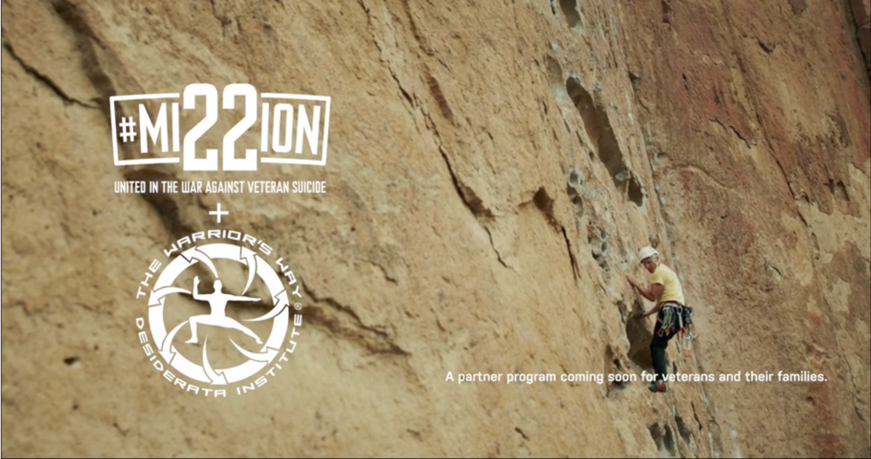 Thank you for your support of Mission 22 and The Warrior's Way Climbing Program image