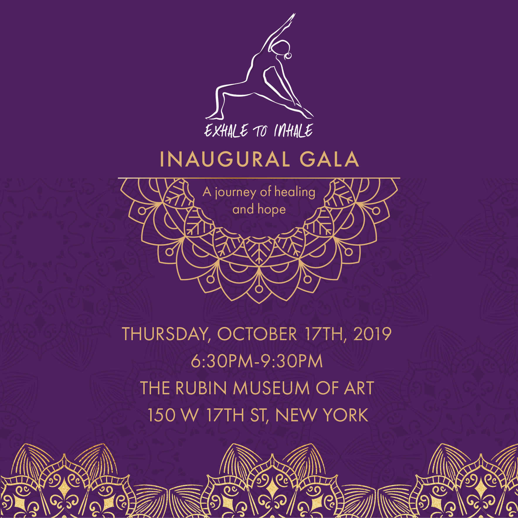 Support Exhale to Inhale's Inaugural Gala! image
