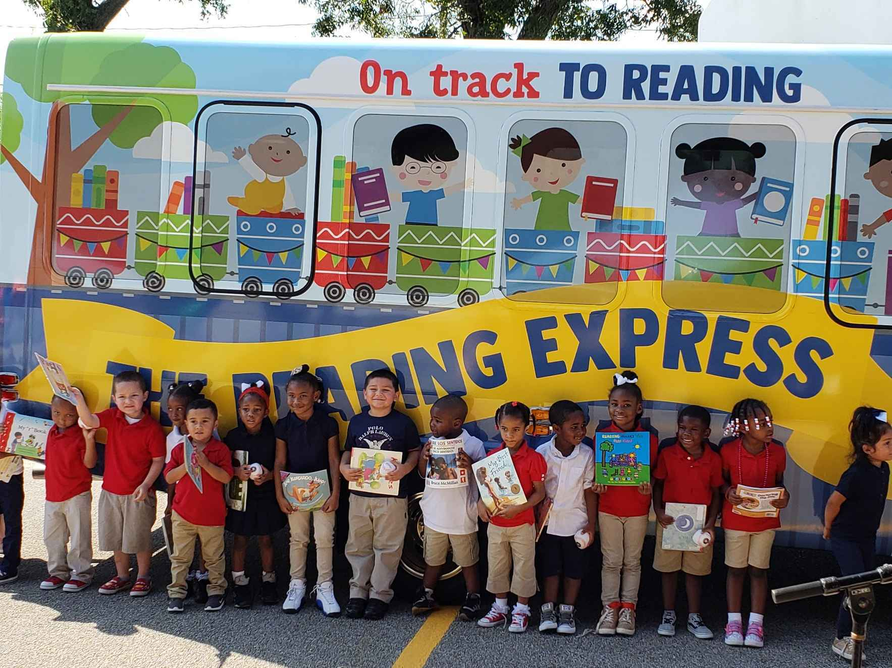 Donate now to provide books, activity supplies, and teaching materials to The Reading Express mobile classroom.   image