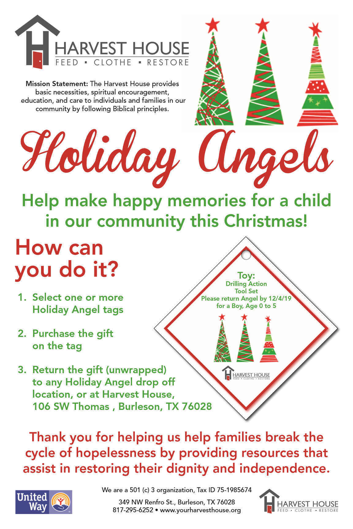 Help Us Give Christmas to Our Community!  image