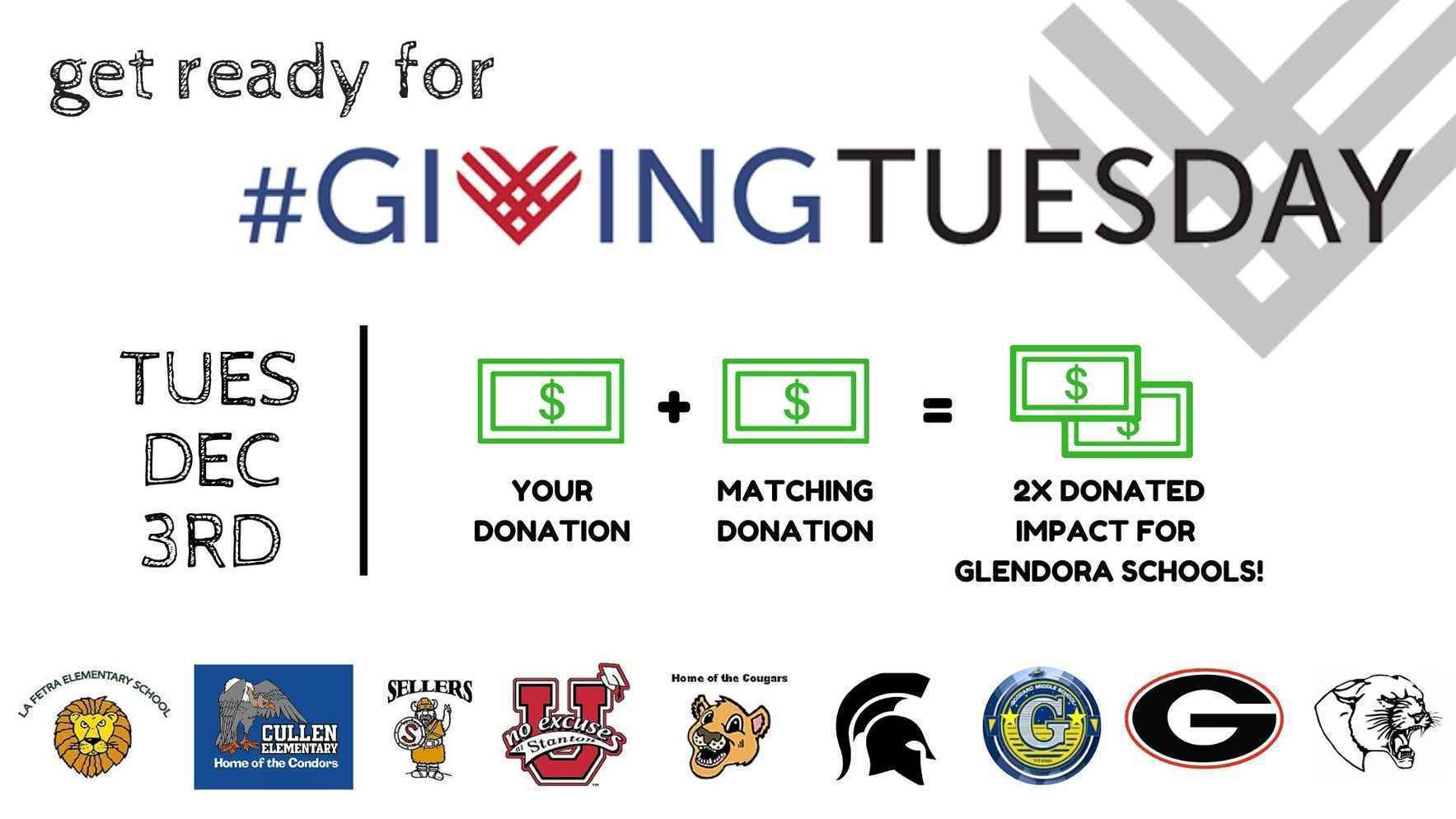 Give to Glendora schools on #GivingTuesday and DOUBLE your impact! image