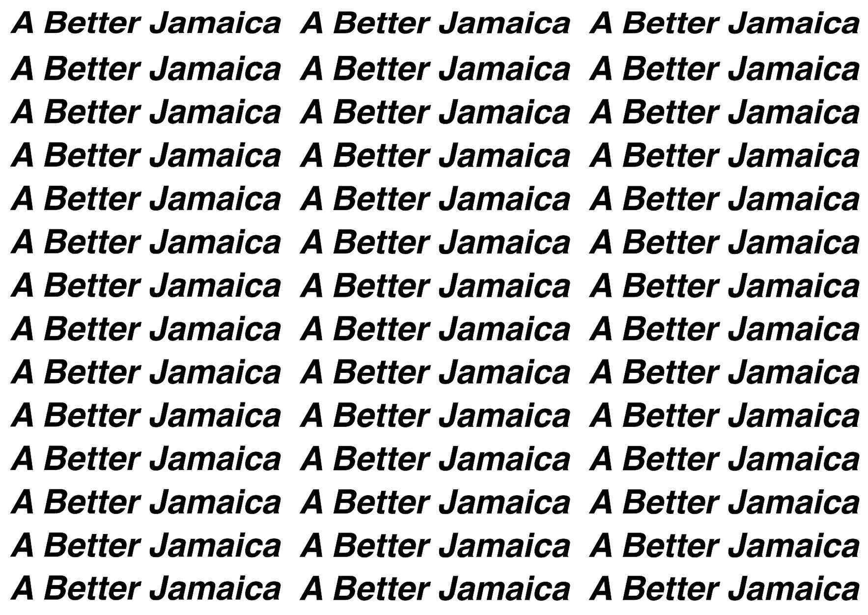 Make a donation to help build A Better Jamaica! image