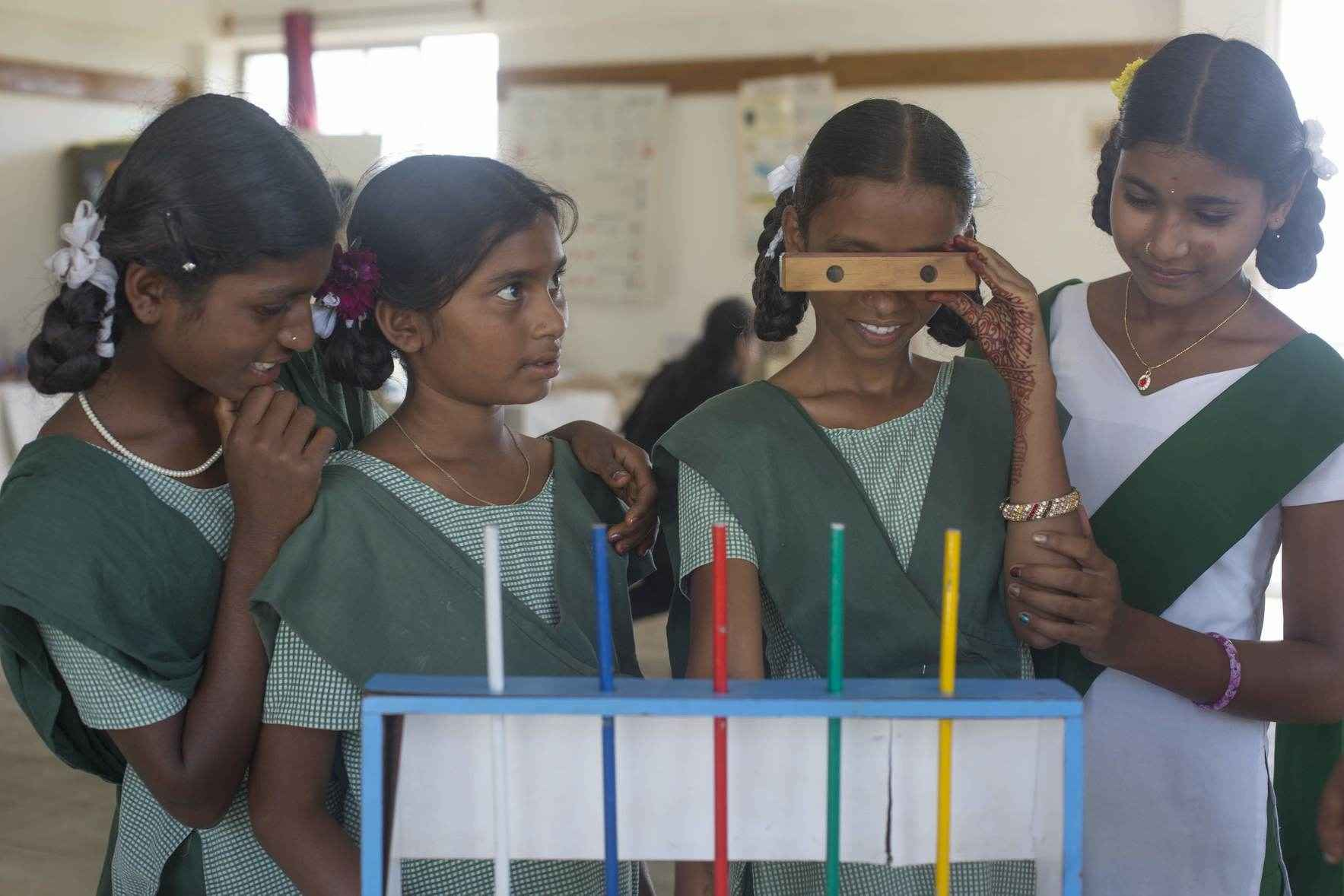Donate to spark curiosity and creativity among children in India through hands-on science education.  image