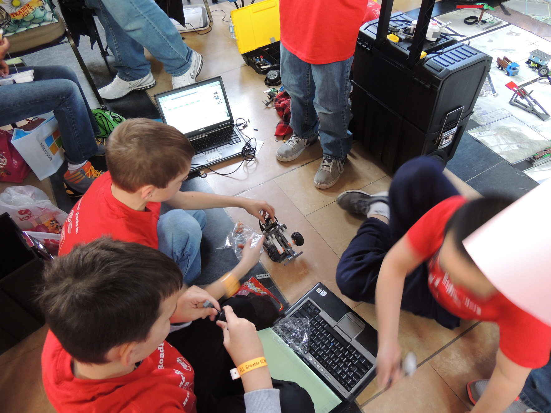 Help elementary students learn the basics of technology problem solving with Lego robotics competition image