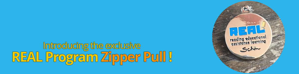 Order an exlclusive REAL Program Zipper Pull Today! image
