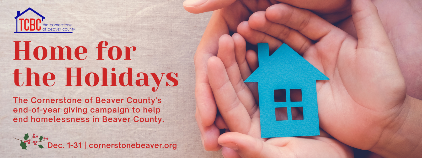 "Together, we can give the gift of ""Home"" for the Holidays image"