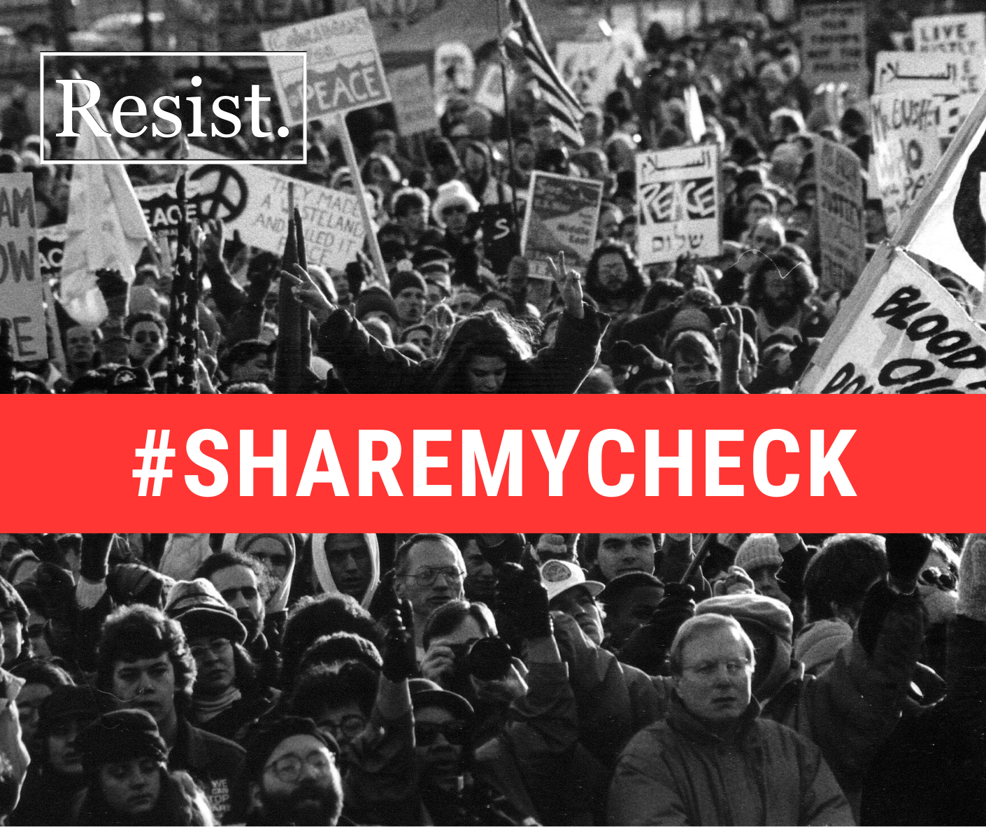 #sharemycheck with Resist image