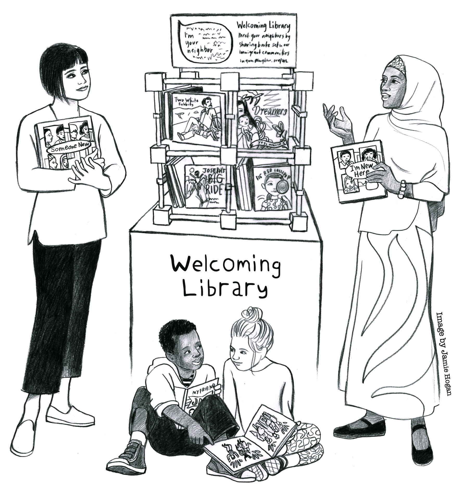 Donate a Welcoming Library image