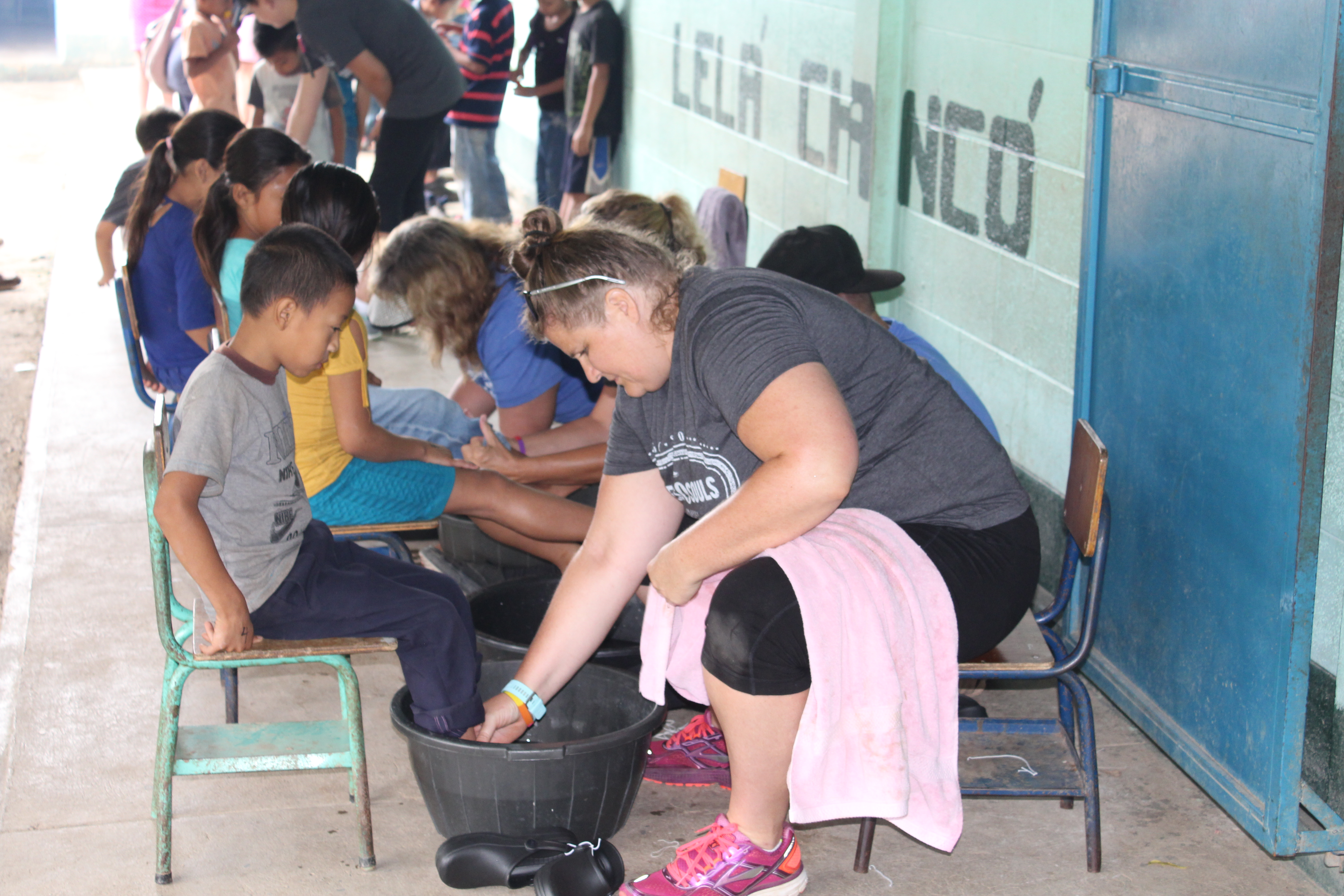 Angie and Soles4Souls distributing shoes in Guatemala this past October