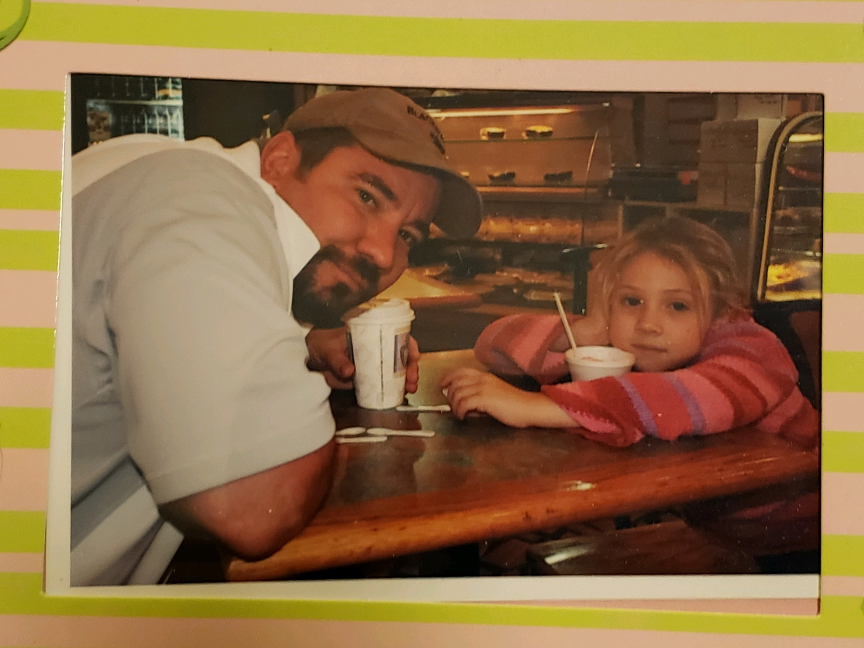 Daddy and daughter when she was little