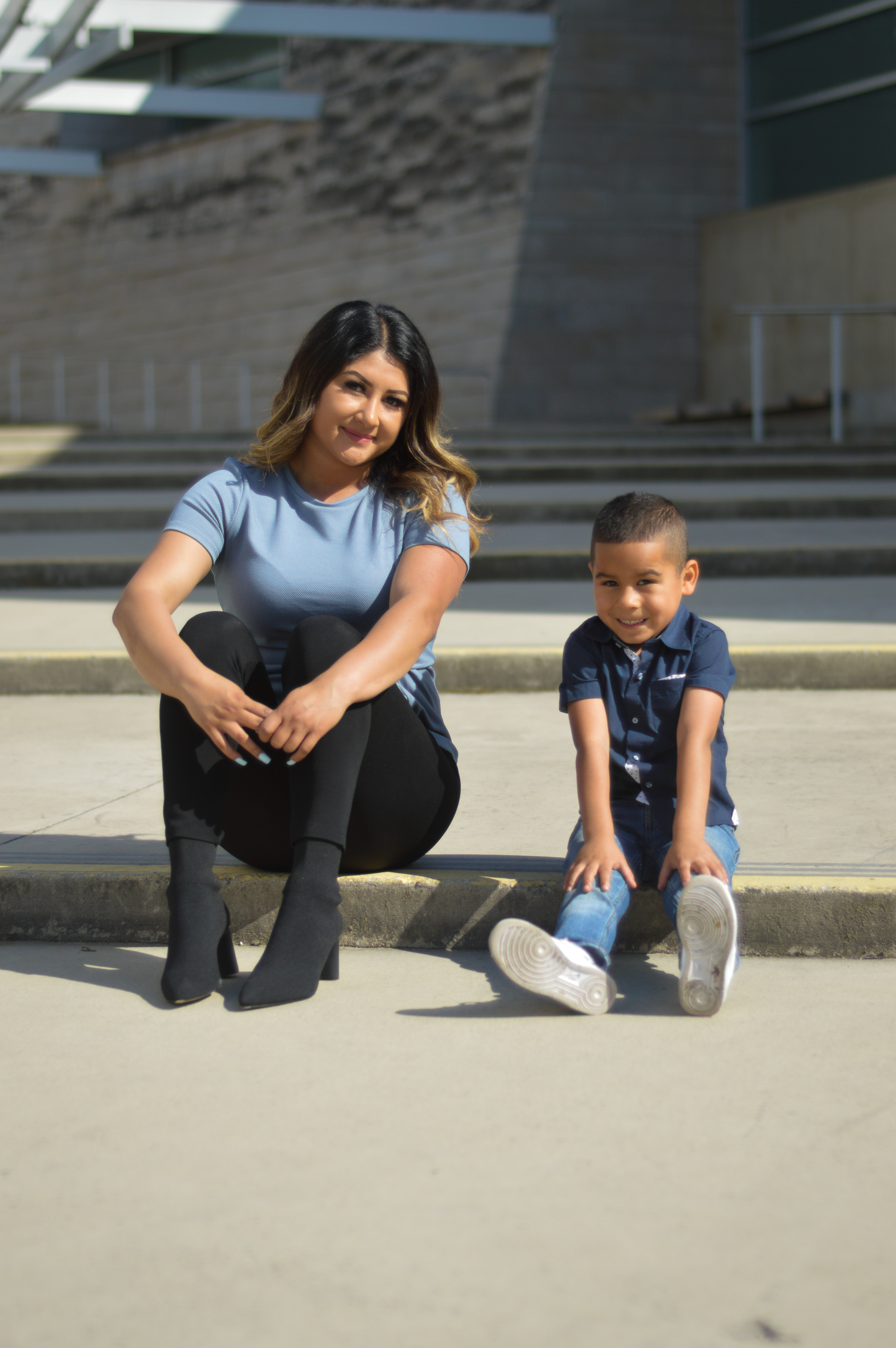 Evelyn and her son Matthew, Teen Success, Inc.