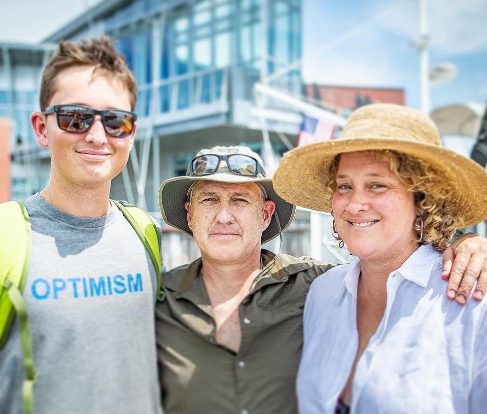 Storm Rushford with his parents Matt and Julieta