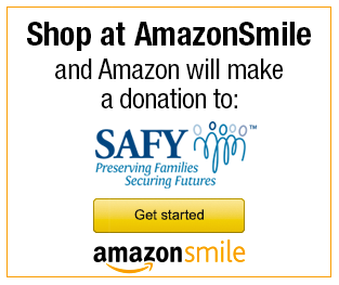 Shop at AmazonSmile and Amazon will make a donation to SAFY