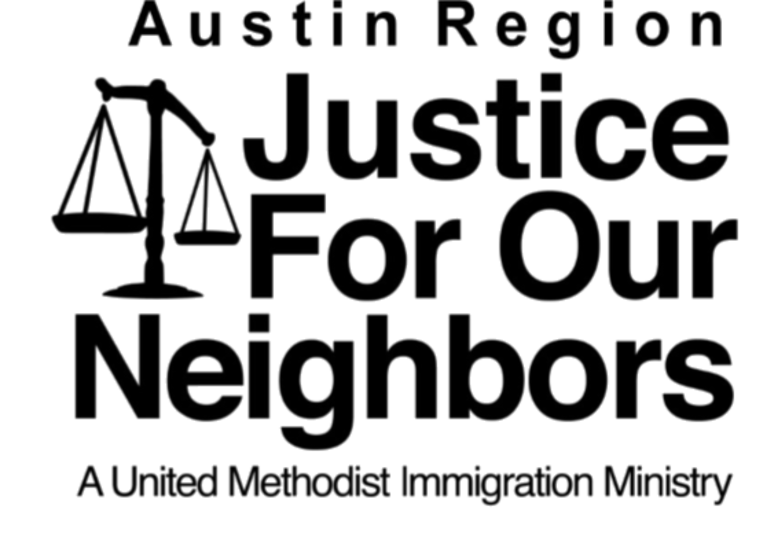 Austin Region Justice for our Neighbors logo