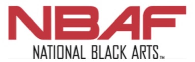 NBAF (National Black Arts) logo