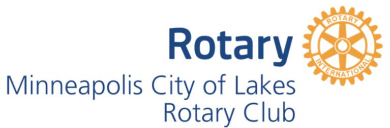 Minneapolis City of Lakes Rotary Foundation logo