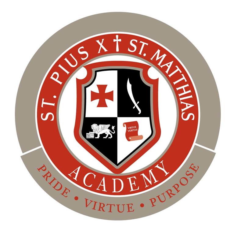 St. Pius X - St. Matthias Academy logo