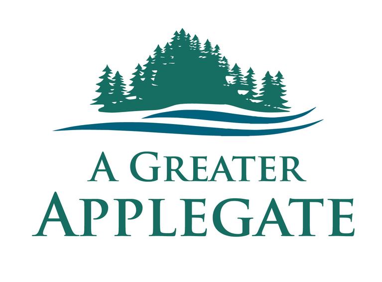 A Greater Applegate logo